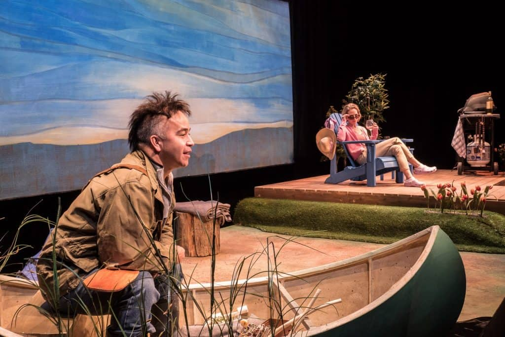 Herbie Barnes and Philippa Domville in Cottagers and Indians - Photo by Andrew Alexander
